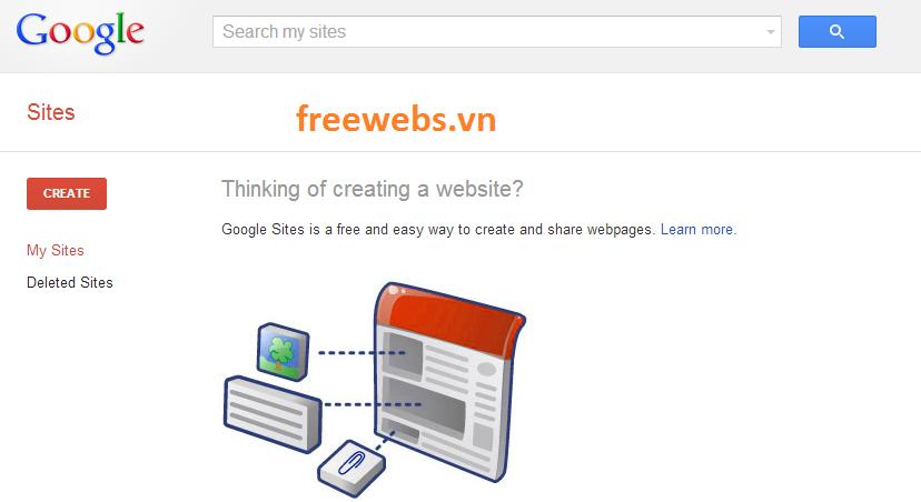 Tự Tạo Website Trực Tuyến Miễn Phí