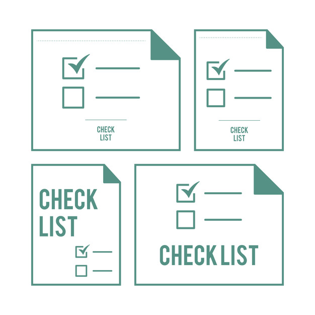 Illustration of checklist Free Vector