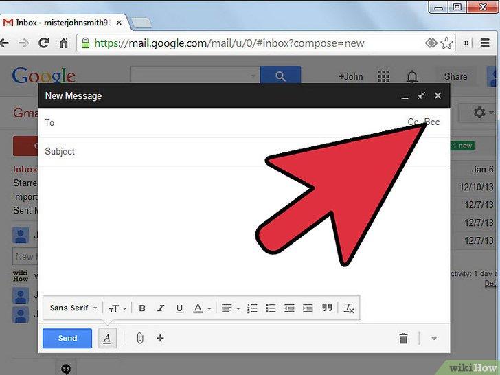 CC và BCC trong gmail xuất hiện tại đây