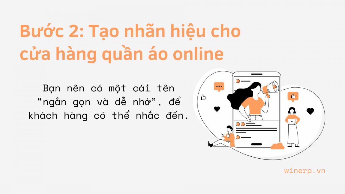 Bước 2: Tạo nhãn hiệu cho cửa hàng quần áo online