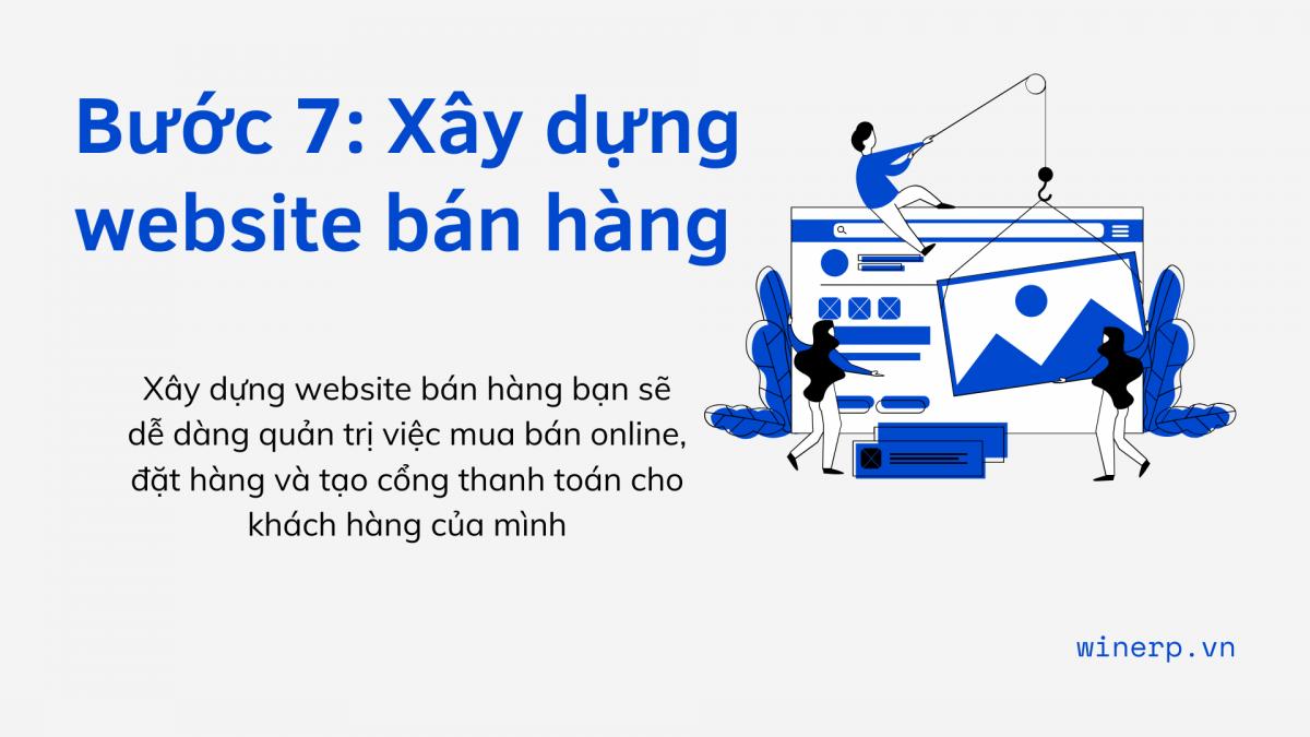 Bước 7: Xây dựng website bán hàng