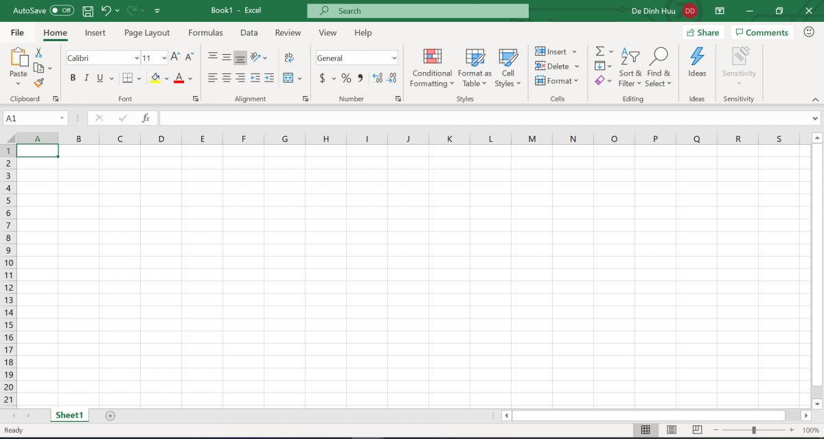 Giao diện mới của Excel