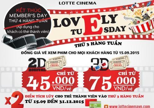 giảm giá vé xem phim