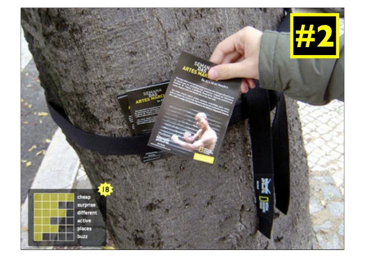 Ví dụ Guerrilla marketing – Marketing du kích-Tận dụng gốc cây