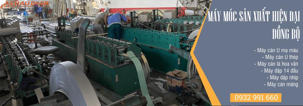 Máy móc sản xuất hiện đại – đồng bộ