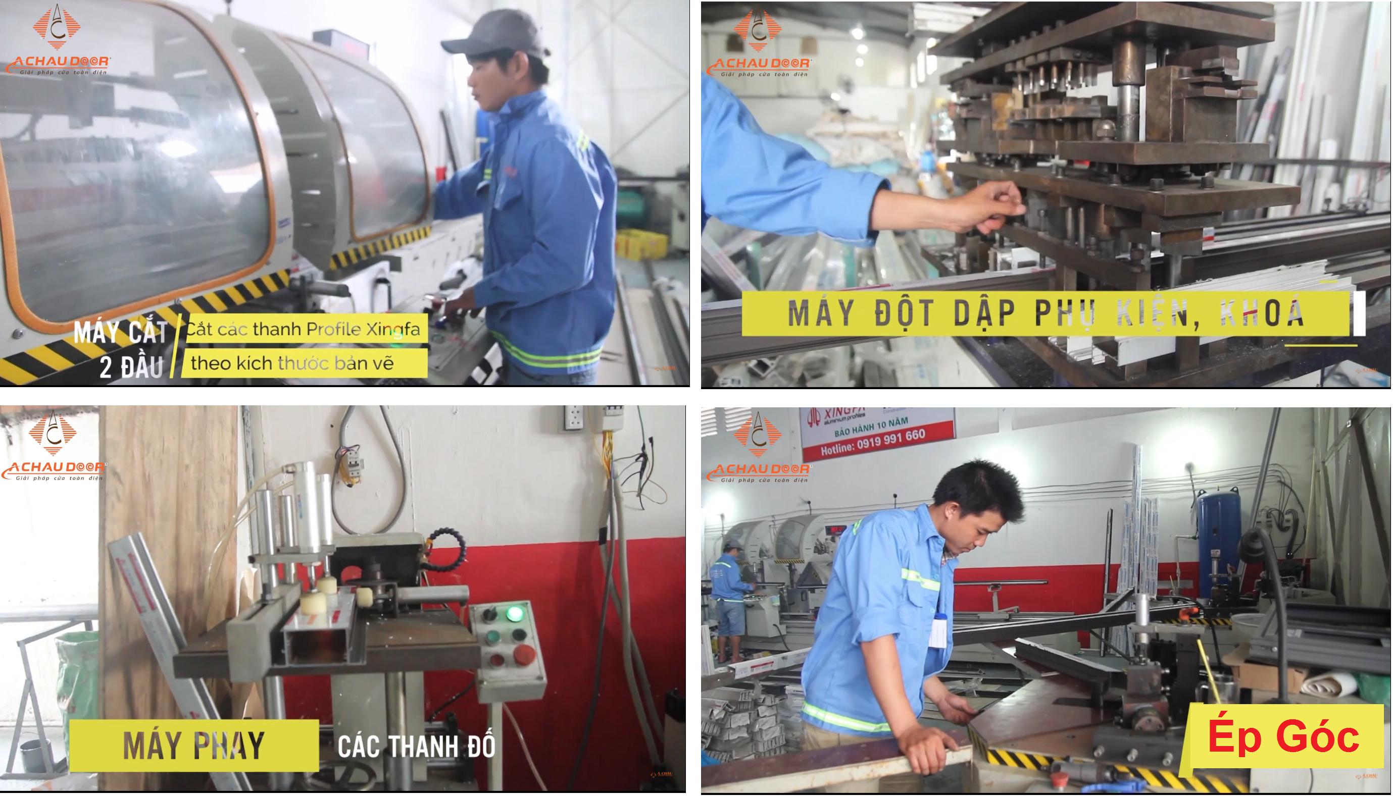 Máy móc và quy trình sản xuất cửa nhôm kính